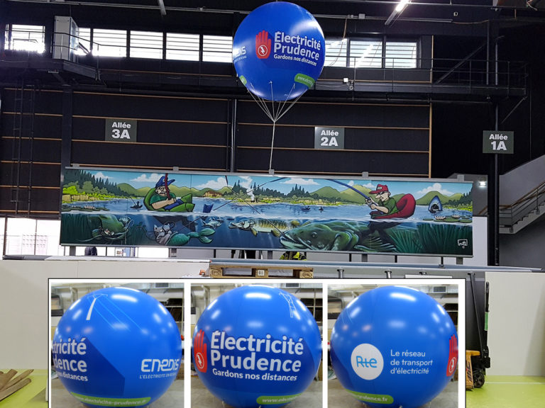 ballon-helium-publicitaire-salon-2m-total-covering-rte-enedis